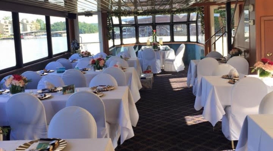 Dining Area inside Tropic Island Cruises
